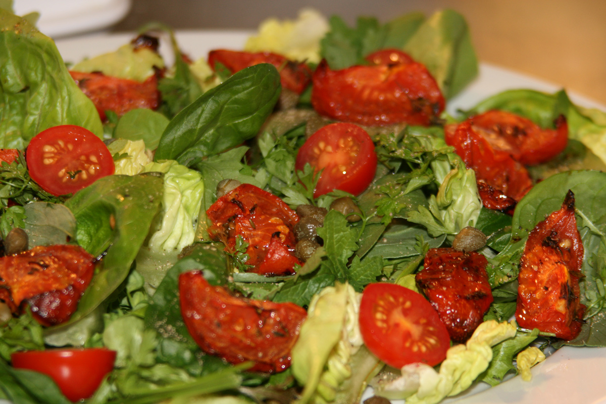 ... Girl Cooks Healthy | Low Cholesterol | Roasted Tomato & Caper Salad