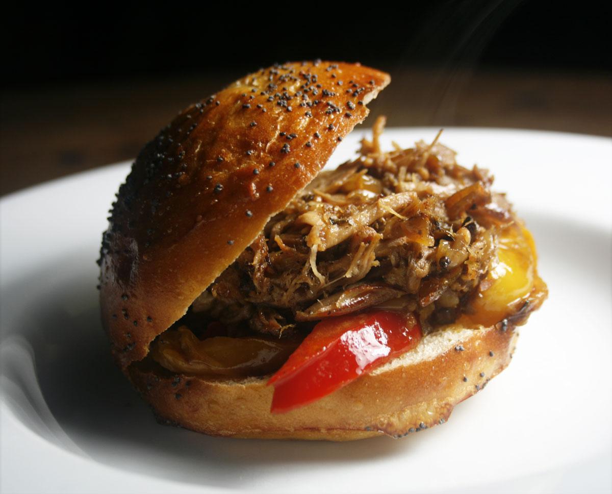 Sunday brunch pulled pork recipe