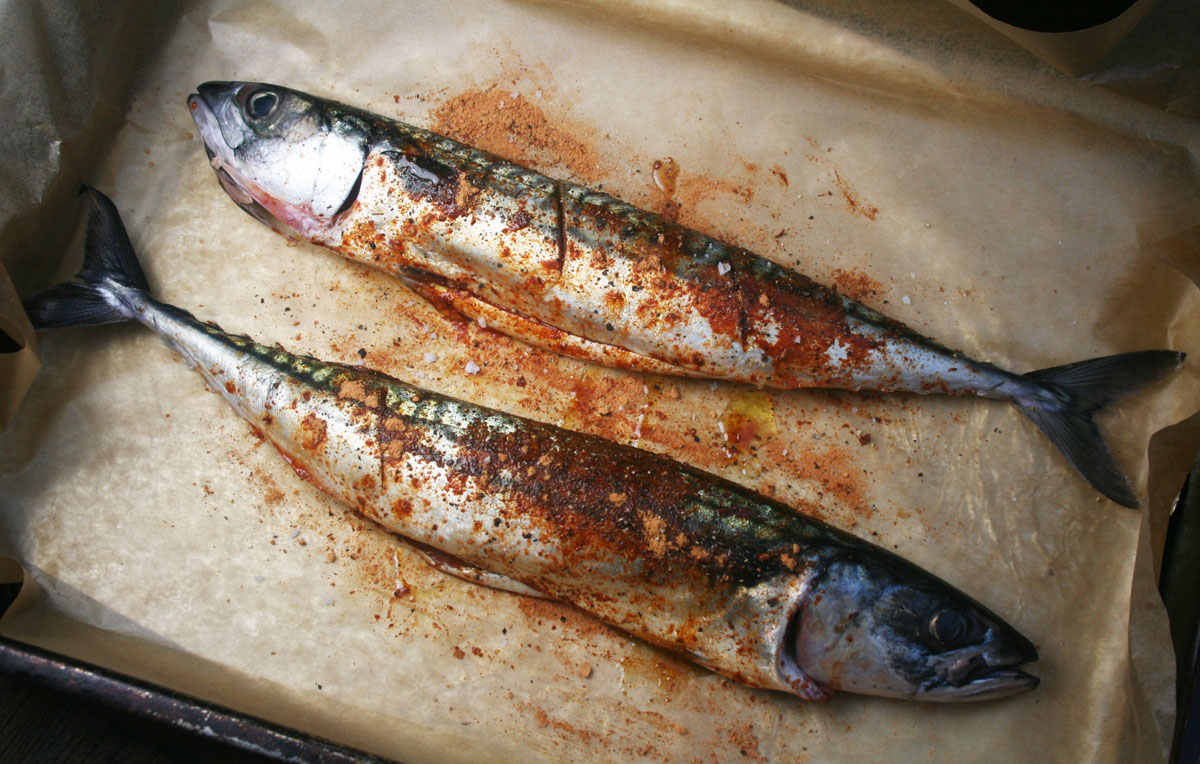 Essex girl cooks healthy low cholesterol baked for Mackerel fish recipe